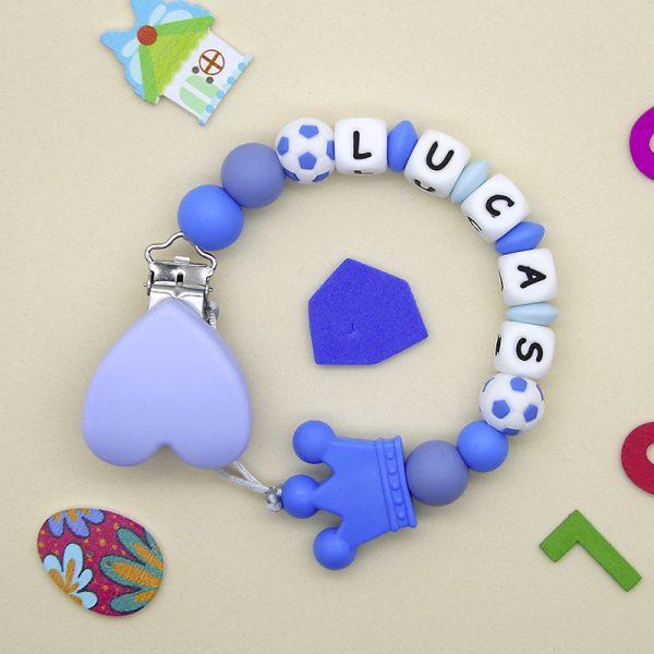 Chupetero personalizado Fútbol Blue