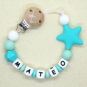 """Chupetero personalizado """"Estrella Mint"""""""