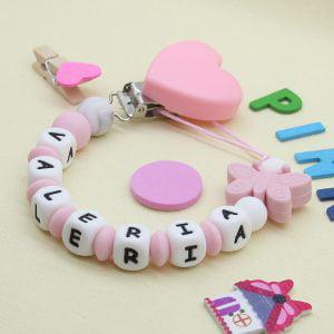 """Chupetero personalizado """"Pink Love"""""""