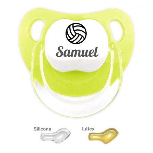 Chupete Personalizado Balón de Voleibol, color Pistacho