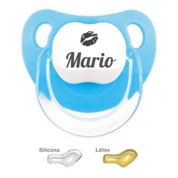 Chupete Azul Personalizado Beso