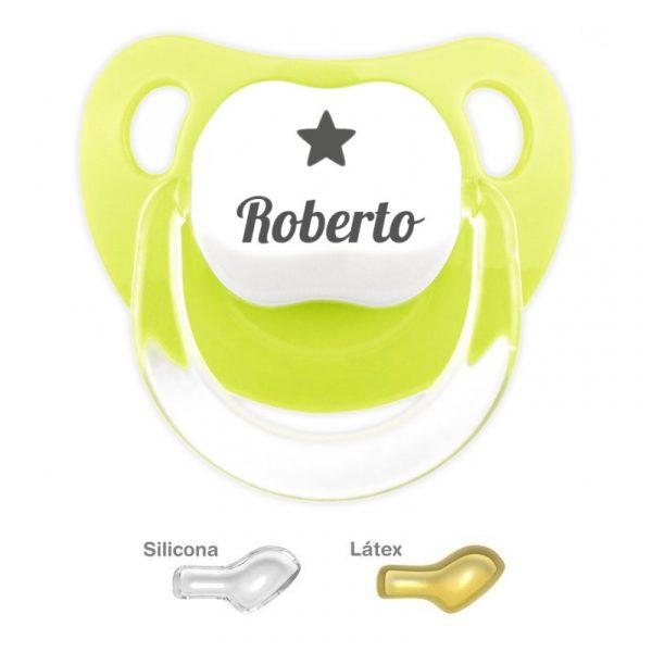 Chupete Personalizado con nombre y dibujo de una estrella