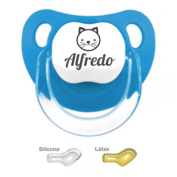 Chupete Azulado Personalizado con Gatito