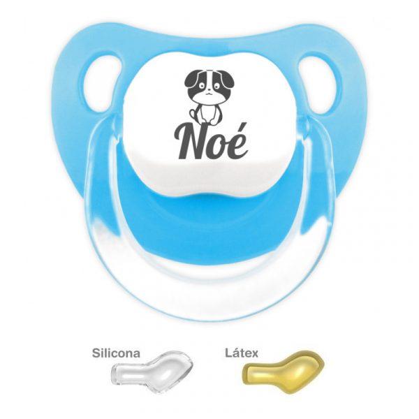 Chupete Personalizado Perrito #2, color Azul