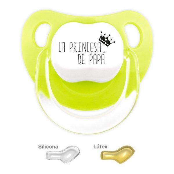 Chupete personalizado la princesa de Papá - color Pistacho
