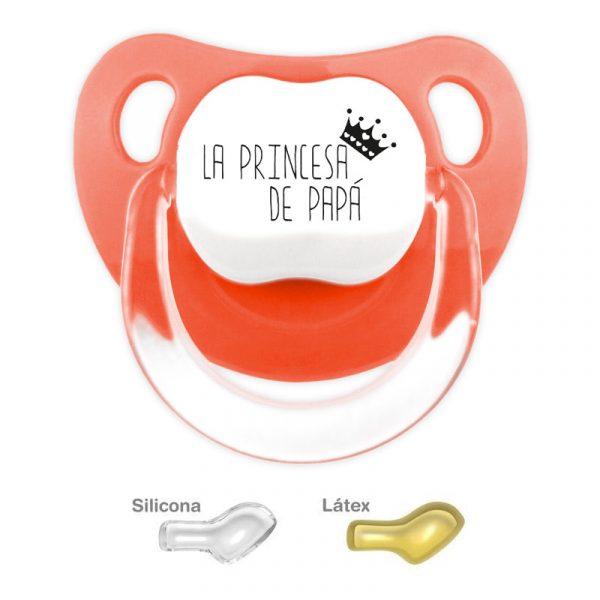 Chupete personalizado la princesa de Papá - color Rojo