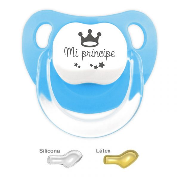 Chupete menta con dibujo Mi Principe Azul