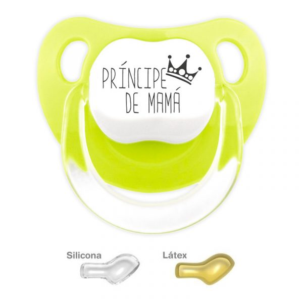 Chupete personalizado la Príncipe de Mamá color Pistacho