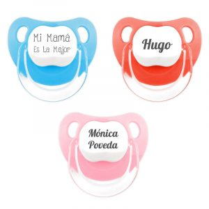 Pack 3 chupetes personalizados Classic