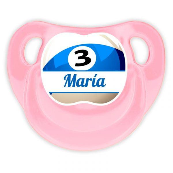Chupete Personalizado Billar Deluxe color rosa