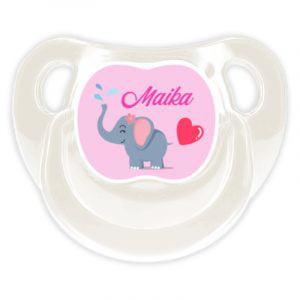 Chupete Personalizado Elefanta Deluxe