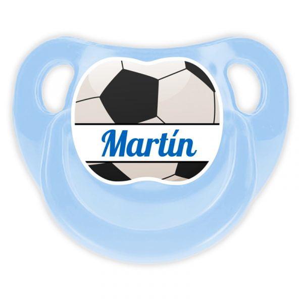 Chupete Personalizado Fútbol Ball Deluxe color celeste