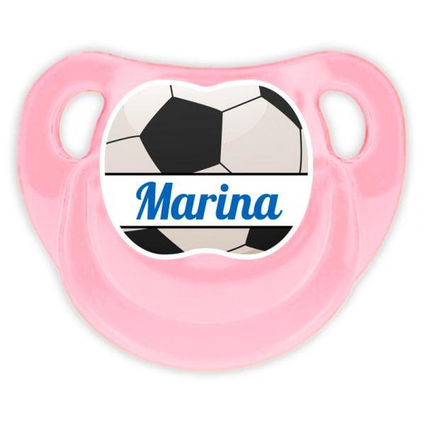 Chupete Personalizado Fútbol Ball Deluxe color rosa