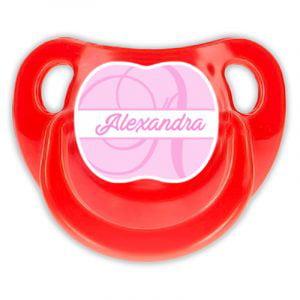 Chupete Personalizado Monograma Pink Deluxe