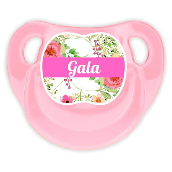 Chupete Personalizado Rosas Deluxe color rosa