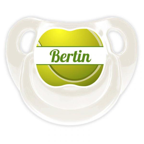 Chupete Personalizado Tenis Deluxe color blanco