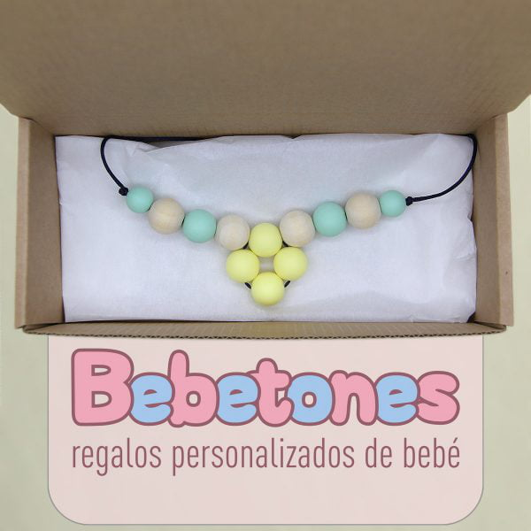 "Collar de lactancia ""Baby Mint"" packaging"