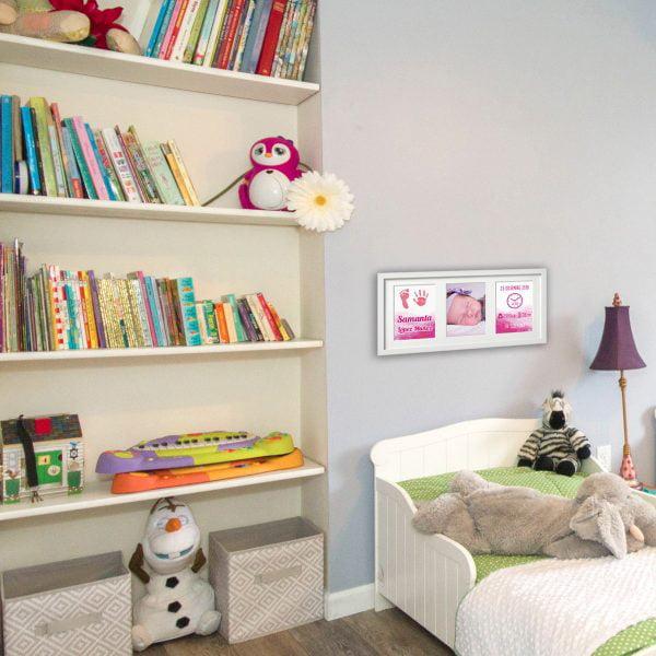 Huellas con Amor color Rosa Bebé en habitación