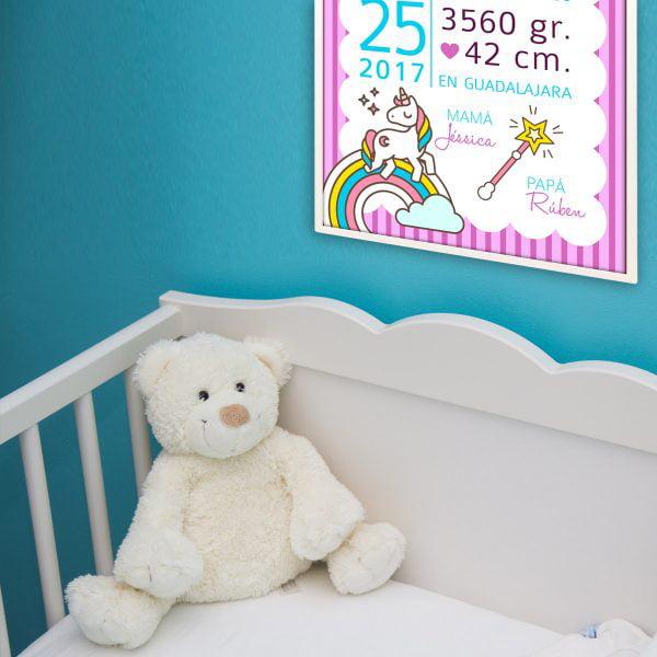 Lamina nacimiento Unicornio habitación