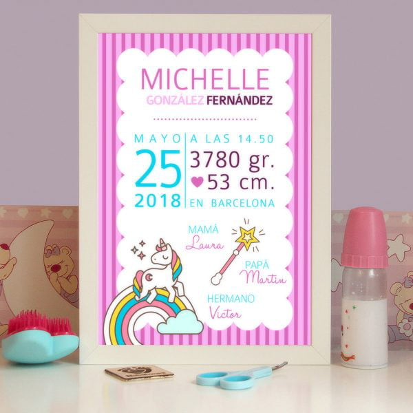 Lamina modelo Unicornio de Michelle