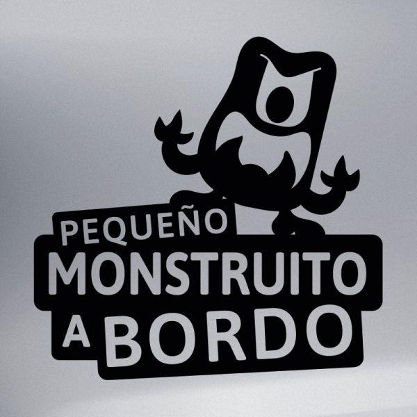 Pegatina Bebé a Bordo - El Monstruito Furioso - vinilo negro