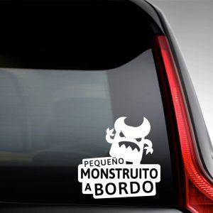 """Pegatina de Vinilo  Bebé a bordo – """"Monstruito Enfadín"""""""