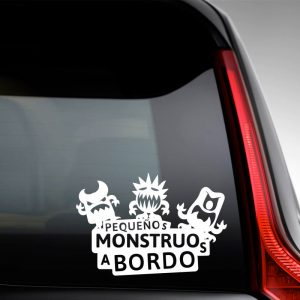 "Pegatina de Vinilo  Bebé a bordo – ""Tres Monstruitos"""