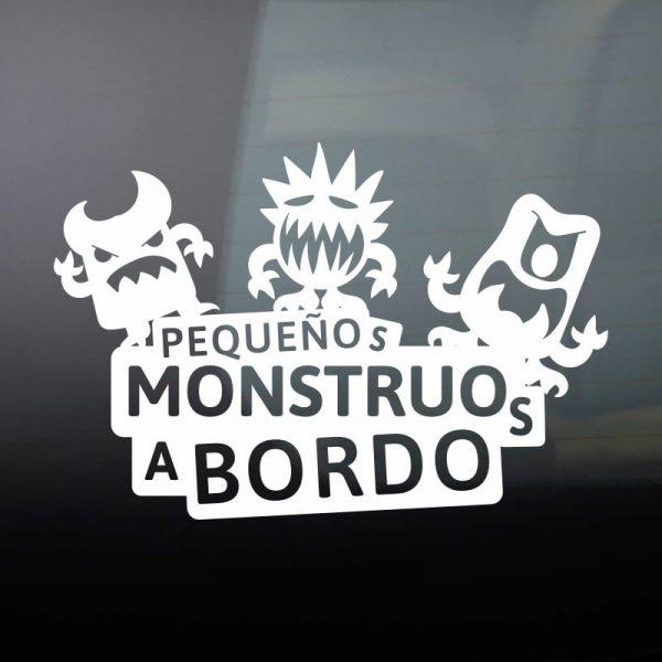 Pegatina Bebé a Bordo - Tres Monstruitos