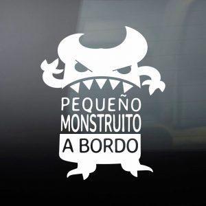 """Pegatina de Vinilo  Bebé a bordo – """"El Monstruo Enfadín 2"""""""