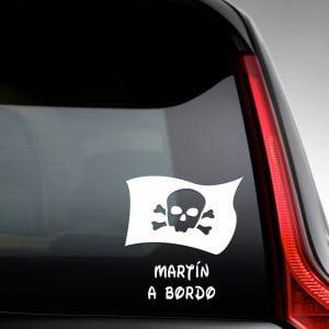 Pegatina de Vinilo  «Bebé a bordo – Bandera Pirata»