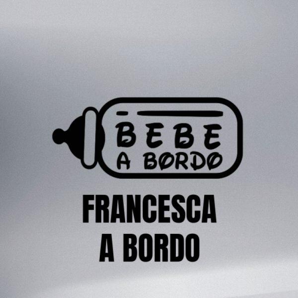 """Pegatina Bebé a Bordo """"Biberón"""" en negro"""