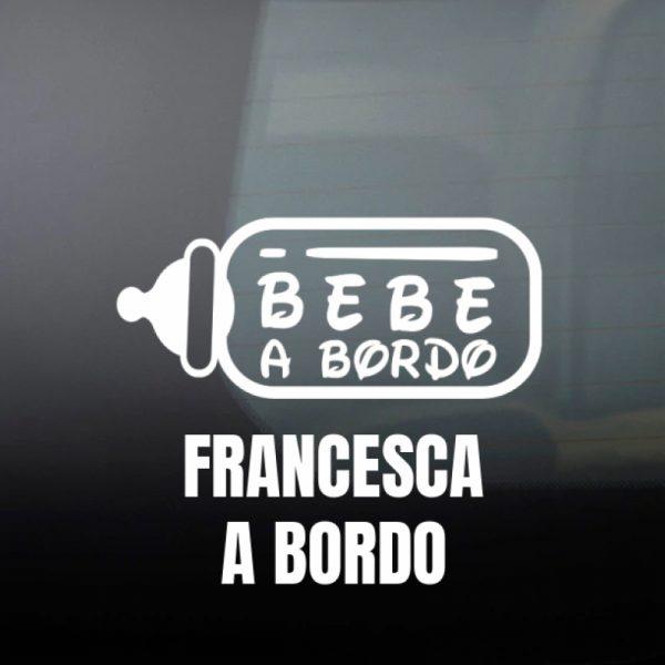 """Pegatina Bebé a Bordo """"Biberón"""" en blanco"""