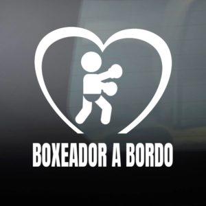 """Pegatina de Vinilo  """"Bebé a bordo – Boxeador"""""""
