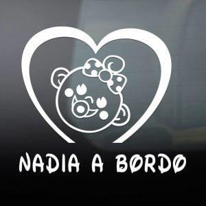 """Pegatina de Vinilo  """"Bebé a bordo – Niña"""""""