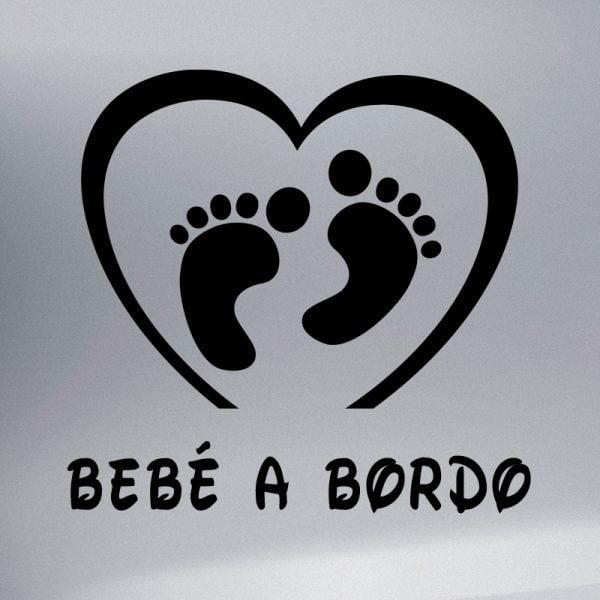 Pegatina Bebé a Bordo Pies de Bebé en negro
