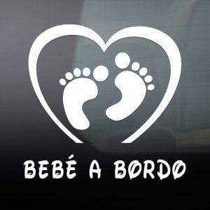 "Pegatina de Vinilo  ""Bebé a bordo – Pies"