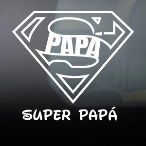 """Pegatina de Vinilo  """"Super Papá"""""""