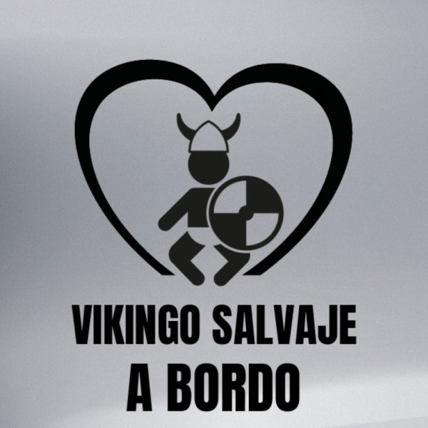 "Pegatina personalizada ""Vikingo a Bordo"" en vinilo negro"