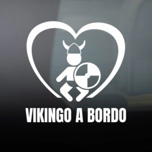 "Pegatina de Vinilo Bebé a Bordo – ""Vikingo"""