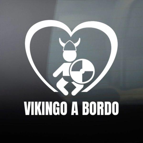 """Pegatina personalizada """"Vikingo a Bordo"""""""