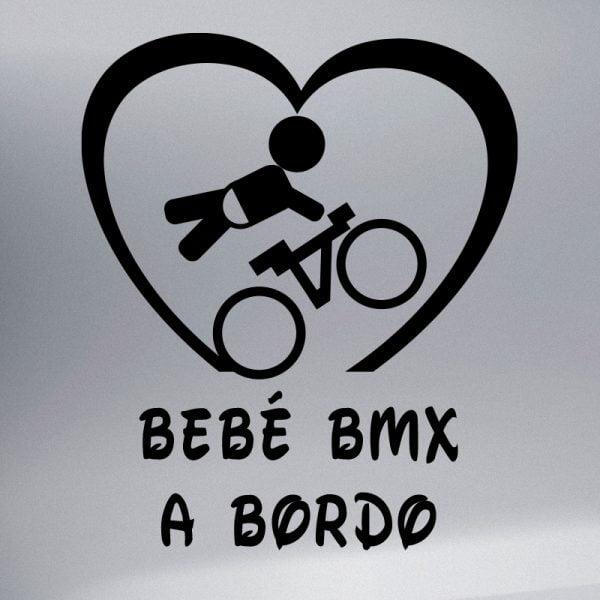 Pegatina Bebé a Bordo BMX en negro