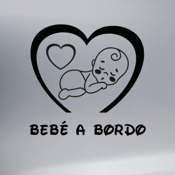 Pegatina Bebé a Bordo Niño #2 en negro