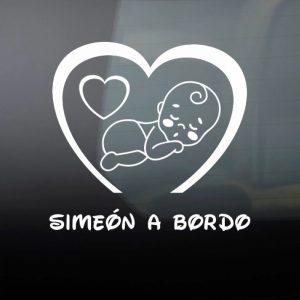 """Pegatina de Vinilo  """"Bebé a bordo – Niño #2"""""""