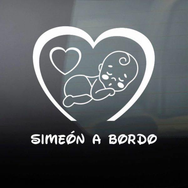 Pegatina Bebé a Bordo Niño #2 en blanco