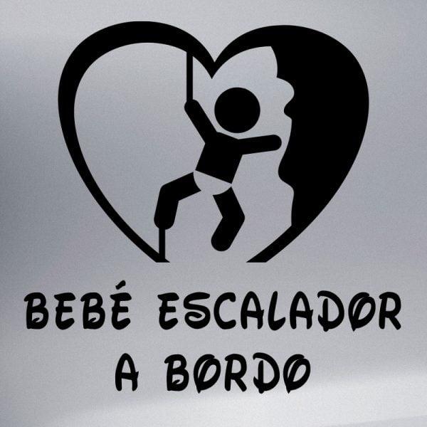 Pegatina Bebé a Bordo Escalador en negro