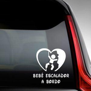 """Pegatina de Vinilo  """"Bebé a bordo – Escalador"""""""