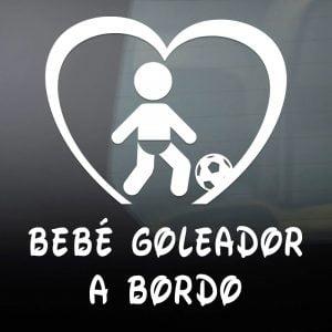 "Pegatina de Vinilo  ""Bebé a bordo – Goleador"""