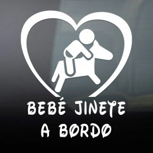 "Pegatina de Vinilo  ""Bebé a bordo – Jinete"""