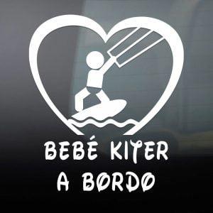Pegatina de Vinilo  «Bebé a bordo – Kiter»