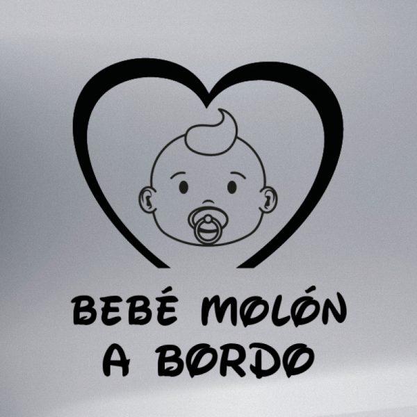 Pegatina Bebé a Bordo Bebé Molón en negro